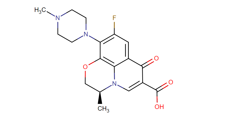 Levofloxacin structure